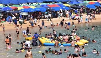 Foto: Turistas en el puerto de Acapulco, 10 de febrero 2019. Twitter @AcapulcoGob