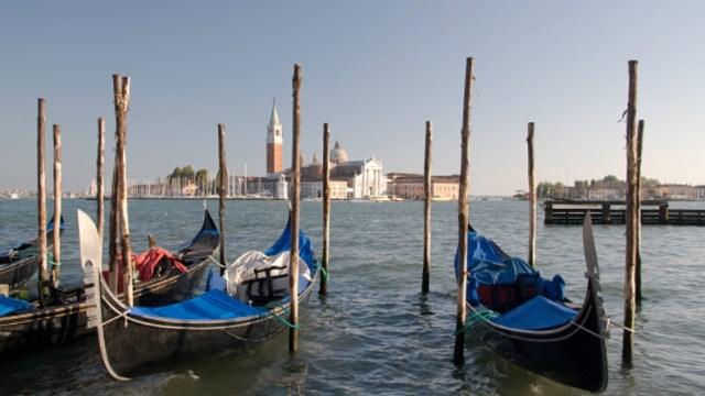 Foto: Vista del Campanile y de los canales de Venecia, Venecia, Italia, 26 de febrero de 2019 (Getty Images)