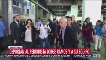 Venezuela deporta al periodista Jorge Ramos