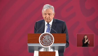 Foto: El presidente López Obrador en conferencia matutina desde Palacio Nacional, 21 de marzo de 2019, Ciudad de México