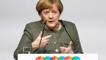 FOTO Angela Merkel en la Cumbre de Soluciones Globales 19 MARZO 2019