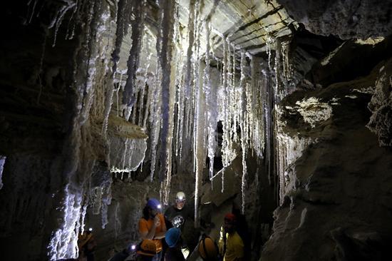 foto Cueva de sal israel 4
