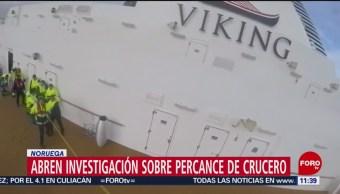 Foto: Abren investigación sobre percance de crucero en Noruega