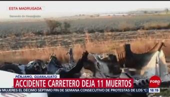 FOTO: Accidente carretero deja 11 muertos en Pénjamo, Guanajuato, 9 marzo 2019