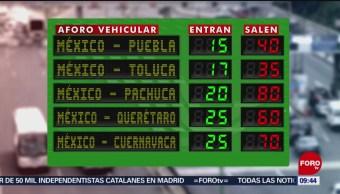 FOTO: Afluencia vehicular en salidas y entradas a la Ciudad de México, 16 marzo 2019