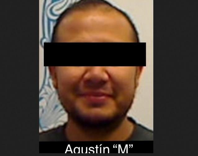 Foto: Agustín M, alias 'El Agus', presunto lugarteniente del Cárte Santa Rosa de Lima, 24 de marzo 2019. (Twitter @FGRMexico)