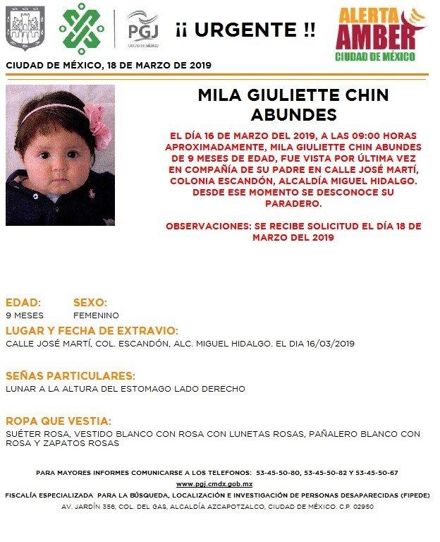 Resultado de imagen para Mila Giuliette Chin Abundes