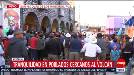Foto: Alerta Sísmica Campanas Iglesia Alarma Popo 29 de Marzo 2019