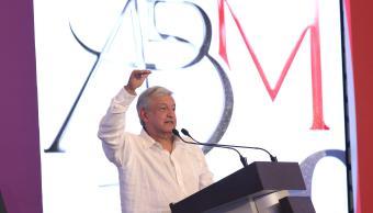 Foto: Andres Manuel López Obrador durante su participación en la pasada Convencion Bancaria realizada en el puerto de Acapulco, 22 marzo 2019