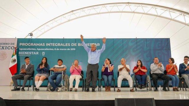 méxico es mi único partido, dice López Obrador en Aguascalientes, Twitter, @Mary_Luisa_AG, 8 de marzo de 2019