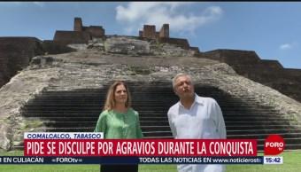 FOTO: AMLO pide a España se disculpe por agravios durante la Conquista, 25 marzo 2019