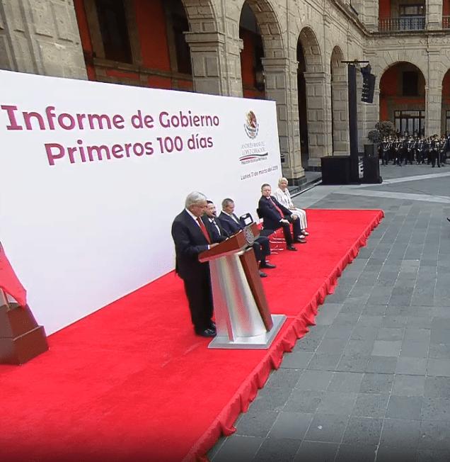 Foto: AMLO rinde informe cien días de gobierno, 11 de marzo de 2019, Ciudad de México, México