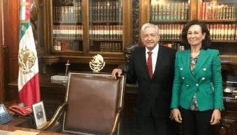 Foto: Ana Botín se reunió con el presidente López Obrador, 12 de marzo de 2019, Ciudad de México