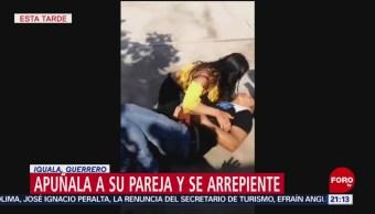 FOTO: Apuñala a su pareja en motel en Iguala, Guerrero, y se arrepiente, 10 marzo 2019