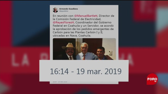 Foto: Armando Guadiana CFE Noticias Falsas 21 de Marzo 2019