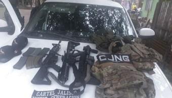 Foto: Abaten a cuatro del CJNG en Veracruz. 15 de marzo 2019. Twitter @SP_Veracruz)