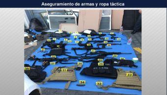 localizan vehiculos con armas y ropa tactica en guadalajara, jalisco