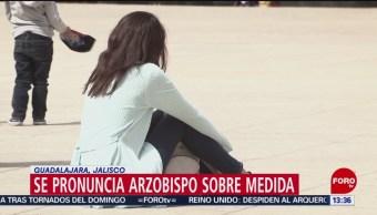 Foto: El cardenal Francisco Robles Ortega, arzobispo de Guadalajara, rechazó que el gobierno federal entregue el apoyo directamente a las mujeres víctimas de violencia