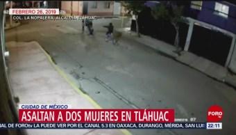 FOTO: Asaltan a dos mujeres en Tláhuac en la Ciudad de México, 3 marzo 2019