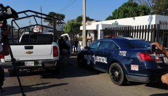 Foto: Asalto a oficinas de CFE en Villahermosa, Tabasco 25 marzo 2019
