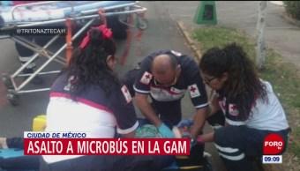 Asalto en microbús de GAM deja un herido