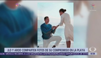 Así pidió matrimonio Alex Rodríguez a Jennifer López