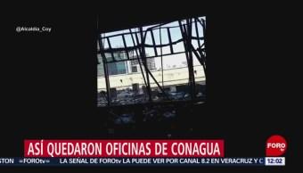 FOTO:Así quedaron las oficinas de Conagua tras incendio, 23 Marzo 2019