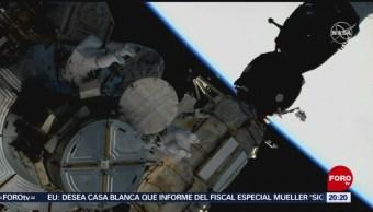 Foto: Astronautas Caminata Espacial Reemplazar Piezas 22 de Marzo 2019
