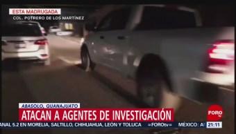 Atacan a agentes de investigación en Abasolo, Guanajuato