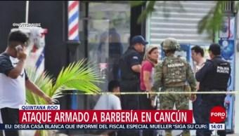 FOTO:Ataque armado en barbería en Cancún deja 5 heridos, 24 Marzo 2019