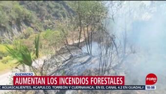 Aumentan los incendios forestales en Guerrero