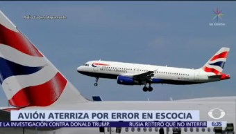 Avión de WDL Aviation aterriza en Escocia por error