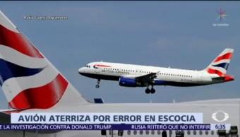 Avión de WDL Aviation aterriza en Escocia por error