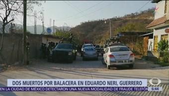 Balacera en balneario de Guerrero deja dos muertos