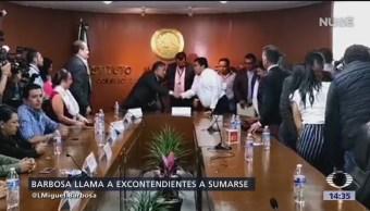 Foto: Barbosa se registra como candidato a la gubernatura de Puebla