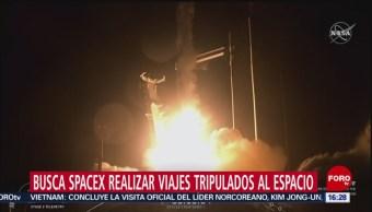 FOTO: Busca Spacex realizar viajes tripulados al espacio, 2 marzo 2019