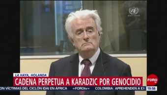 Foto: Cadena Perpetua Karadzic Genocidio Expresidente Serbobosnio 20 de Marzo 2019