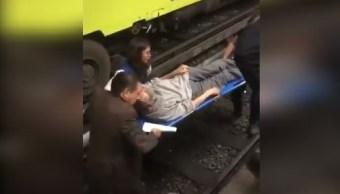Foto: Una persona cayó a las vías en la estación Guerrero, Línea 3, que va de Indios Verdes a Universidad, 29 marzo 2019