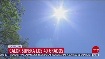 FOTO: Calor supera los 40 grados en Campeche, 9 marzo 2019