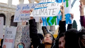 Foto:Miles de jóvenes marchan en todo el mundo contra el cambio climático, 15 marzo 2019