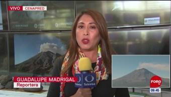 Cambio de alerta volcánica del Popocatépetl se debió por exhalaciones, informó Cenapred