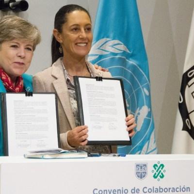 Sheinbaum firma convenio de colaboración con Cepal para combatir desigualdad