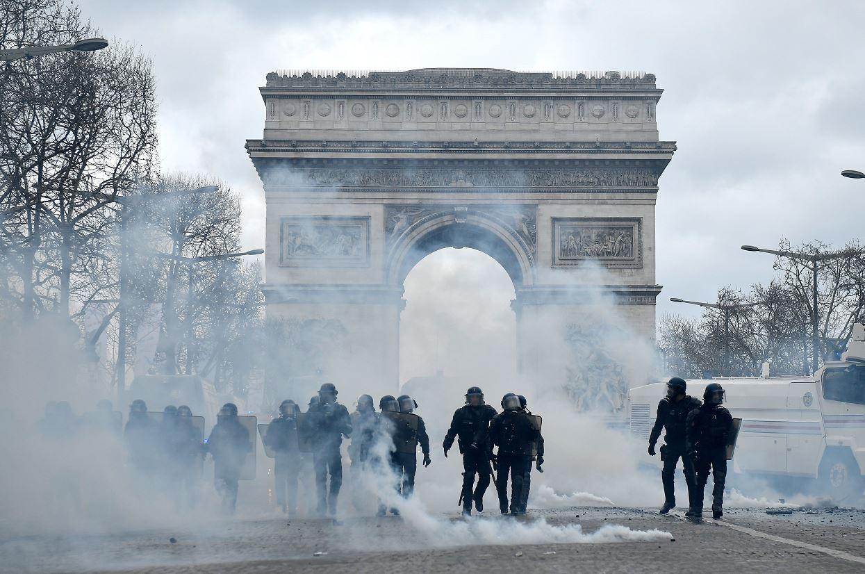 Foto: Nueva jornada violenta en Francia por chalecos amarillos, 16 marzo 2019