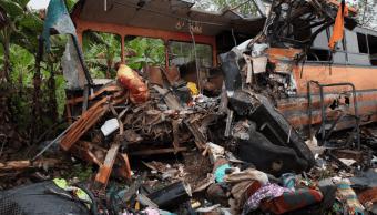 Foto: Choque de autobuses en Ghana, 22 de marzo de 2019, África