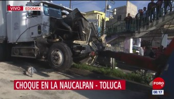 Choque en la Naucalpan-Toluca deja 15 lesionados