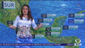 FOTO: Clima Al Aire: Prevén tormentas en sureste de México y Península de Yucatán, Clima Al Aire,, 18 marzo 2019