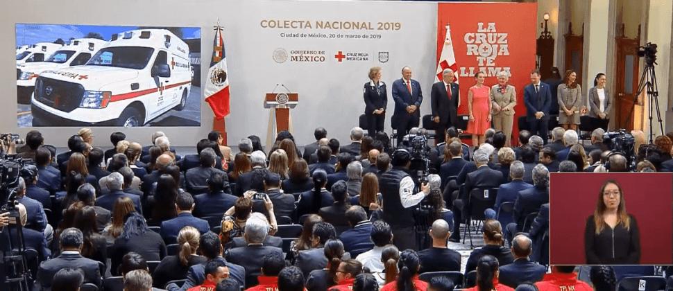 FOTO Colecta de Cruz Roja Mexicana 2019 inicia este 20 de marzo (YouTube/AMLO 20 marzo 2019 cdmx)