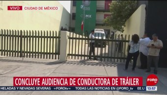 Foto: Concluye audiencia de conductora de tráiler que mató a 10 personas