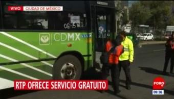 Continúa servicio de RTP para usuarios del Metro