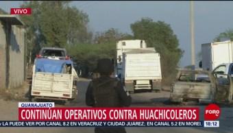 Foto: Continúan operativos contra huachicoleros en Guanajuato